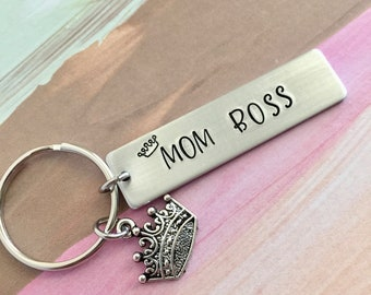 Mom Boss Keychain~Mother's Day Gift, Mom Gift