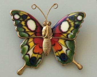 Vintage butterfly brooch
