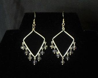 Iolite Sterling Silver Chandelier Earrings