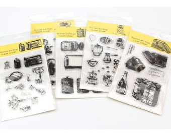 Vintage Lifestyle Clear Stamps Series - Planner, Journal, Craft, Scrapbooking, Decoration