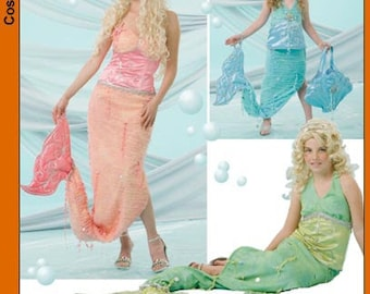 Simplicity Pattern 4043 Mermaid Costume-Misses and Child-Out of Print