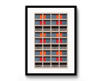 Brutalist / Architecture / A3 / Poster / Print / Sheffield / Park Hill