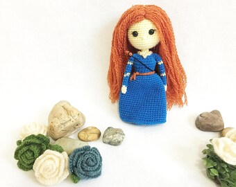 Merida Princess Crochet, nursery decor, Pocahontas amigurumi, Crochet Merida, Baby gift, Girl gift, Birthday Gift, Toy, Doll, gift