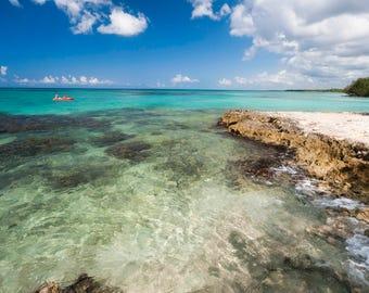 Caribbean photography, Beach photo, Ocean photo, Kayaking, Seascape photo, Ocean download, Dominican Republic, Fine art, Instant download