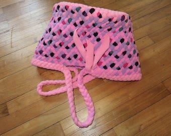 Patchwork, braided basket, braided tote bag Tote