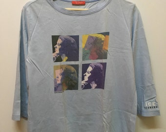 Vintage Ice Iceberg Ingrid Bergman by Andy Warhol Foundation Pop Art 3quater Tee Tops Tshirt