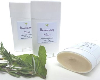 Natural Deodorant, Rosemary Mint, Organic Ingredients, No Aluminum Deodorant, Cruelty Free, Personal Care, Feminine Deodorant