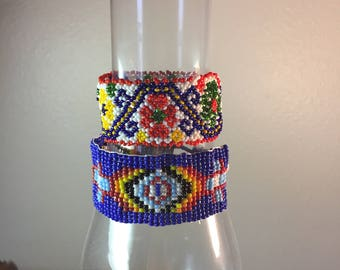 Native American Style Seed Bead Wrap Bracelets