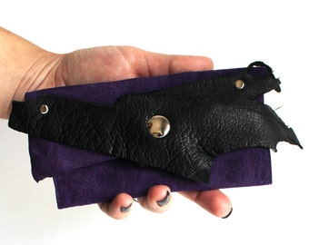 Purple Leather Business Card Wallet