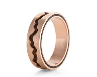 Rose Gold Livlina, 6mm - wood rings UK