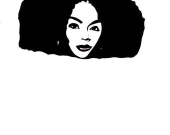 Afro svg, Afro lady svg, Afro lady Silhouette, Afro vector file, Afro vector, Afro cricut svg, Afro svg files, Afro svg file for Cricut