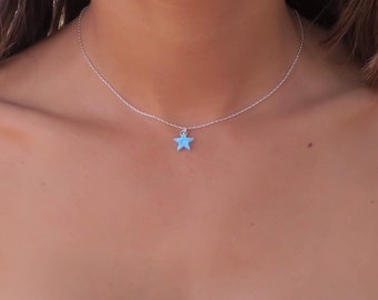 fabula necklace star products something jewels blue pendant