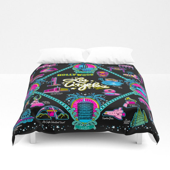 Welcome to Los Angeles! Duvet Cover