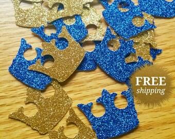 Royal Confetti Crown Confetti Gold Crown Confetti Royal Blue Crown Confetti Royal Prince Confetti Royal Prince Party Prince Baby Shower