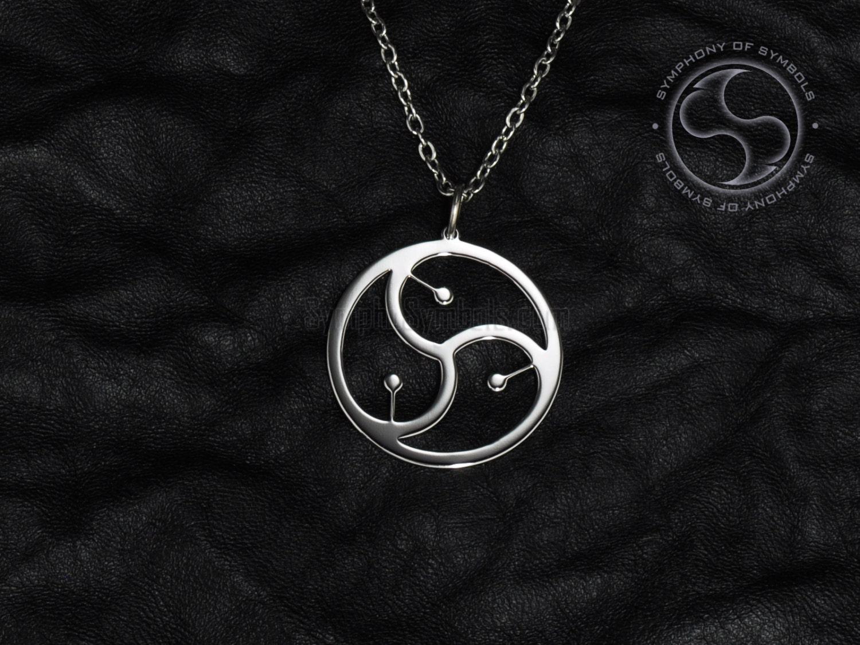 Bdsm symbol pendant slave jewelry fetish necklace bondage zoom biocorpaavc Gallery