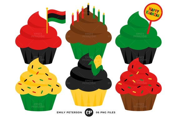 kwanzaa clip art cupcakes clipart holiday cupcakes clip art rh etsystudio com clip art cupcake borders clip art pancakes and sausage