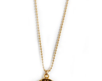 Gold Bee Coin Necklace-gold necklace, gold bee, dainty necklace, layering necklace, coin necklace