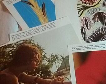 Pack ephemera, medicine, pictures addiction vintage 70's
