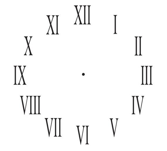 horloge pochoir romain chiffres horloge 7 tailles pour la. Black Bedroom Furniture Sets. Home Design Ideas