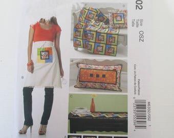 pattern apron, cushion, quilt, coaster MC CALL's S