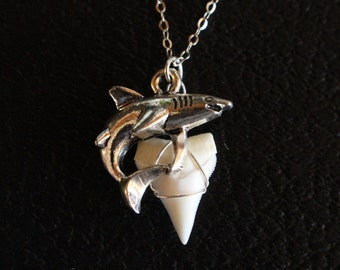 Dainty shark tooth necklace real shark tooth pendant gold silver shark tooth necklace silver shark charm necklace real shark tooth necklace silver aloadofball Gallery