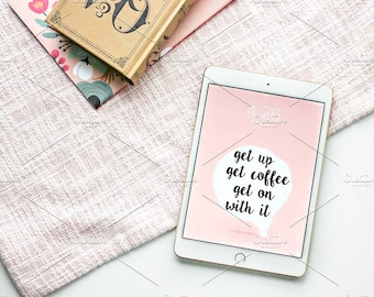 Styled Stock Photo | Tablet & Books Flatlay | Blog stock photo, stock image, stock photography, blog photography