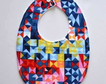 Baby Bib Geometric Paintbox Prisms