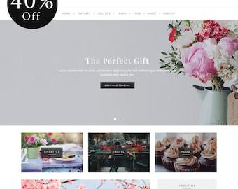 40% OFF! Elegance - WordPress Blog Theme - Feminine WordPress theme - Responsive WordPress theme - Website template