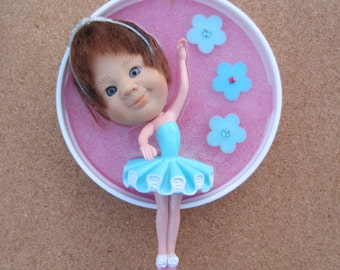 Upcycled Doll assemblage - Tiny Dancer -  wall art