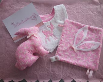 newborn pink baby girl set