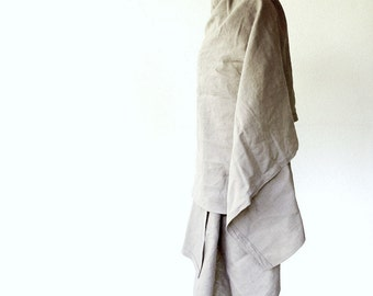 Very large linen shawl wrap scarf in natural or more colors