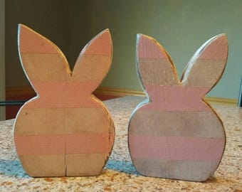 Wood bunny head,  Spring, Rabbit,  Easter decor,  Wood Easter Bunny