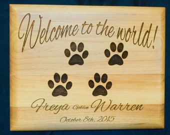 Puppy Birth Announcement - Personalized