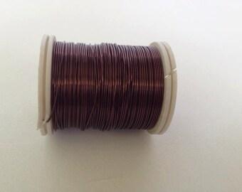 Craft supply Copper wire, 24 Gauge wire, brown craft wire, 18 meters (19.8 yards) craft wire, jewelry making, artistic wire