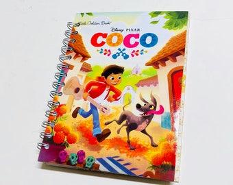 New Disney Pixar Coco Repurposed Little Golden Book Planner/Sketchbook/Journal/ Autograph Book/Notebook