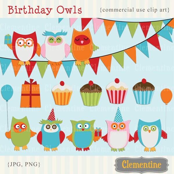 printable owl clip art birthday clip art royalty free rh etsy com free commercial use watercolor clipart free commercial use vector clipart
