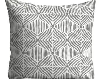 neutral pillows, grey pillow, tribal pillow cover, boho pillow, 12 x 18 in cover, lumbar cover, grey lumbar, grey chair pillow, 12x18 pillow