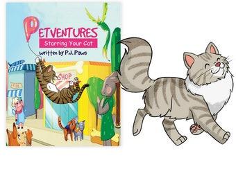 Personalized Book Siberian cat, Siberian cat Gift, Siberian cat art, Siberian cat mom, Siberian cat dad, Siberian cat book, Siberian cat