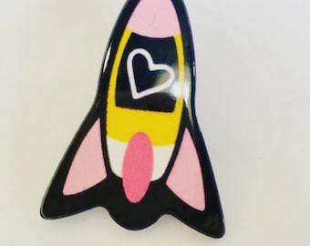 Cute Rocket Pin