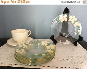 June Sale Beautiful and unusual hand painted dessert plates