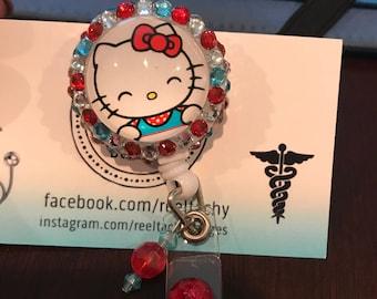 Hello Kitty Bling Badge Reel (Multiple Options)