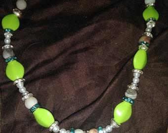 Green Amazonite Tree Of Life Necklace