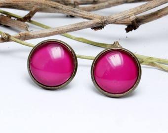 Earrings Pink Vintage Simple rockebilly bachelor party