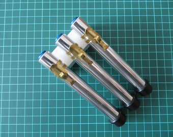 Set of 3 Cylinder code-dosimeter replica for imperial officer whit  brass clip SW prop