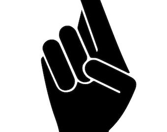 Fingers Crossed - svg file