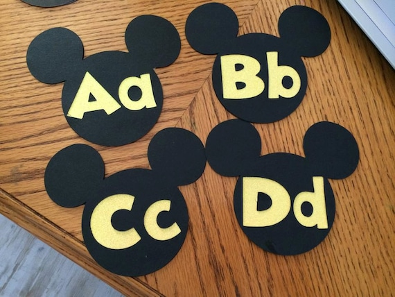 Classroom Decoration Word Work ~ Mickey word wall letters disney classroom theme