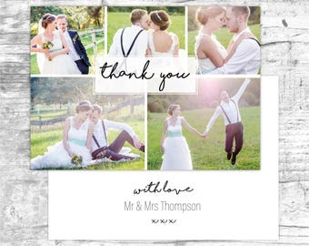 Wedding thank you note cards, Thank you card set, Wedding thank yous, Wedding thank you cards pack, Personalized thank you cards, A6