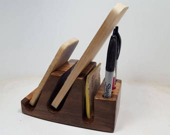 Desk, Counter, Table  Wood Organizer  Cell Phone, Tablet  Stand- (MA0407)