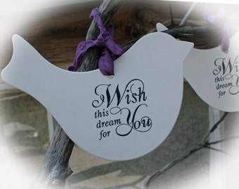 Baby Shower Game // Baby Shower Wishing tree Tags // Baby Shower Guest Book alternative // I wish this dream for your Ivory CS