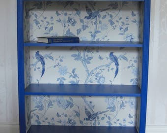 Bookcase in blue for COLLECTION or up to 50 miles delivery